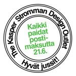 Juhannuksen kunniaksi kaikki paidat postimaksutta tänään the Kasper Stromman Design Outletista