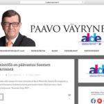Vuoden graafikko (2013) arvostelee presidenttiehdokkaiden nettisivut osa 4: Paavo Väyrynen