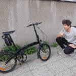 Haastattelussa taitettava polkupyörä