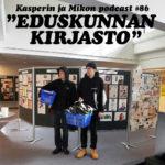 """Kasperin ja Mikon podcast eduskunnan kirjastossa: """"Suuri vaaliräp-battle"""""""