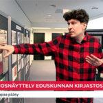 """Näe vuoden graafikko 2013 arvostelemassa vaalimainosnäyttelyä: """"Nuorella Vapaavuorella on sänkykamarikatse"""""""