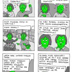 Sarjakuvakeskiviikko: Hannu mehustelee marketissa