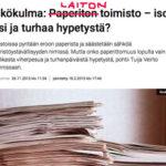 Hallitukselta kesäohje: Paperittoman toimiston sijaan tulisi tästä lähtien puhua laittomasta toimistosta