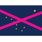 Viisi ehdotusta miltä Alaskan lippu voisi näyttää jos osavaltio olisi suomalaisten asuttama