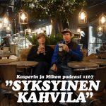 """Kasper ja Mikko syksyisessä kahvilassa: """"Lifti, Blinkka vai Vindi?"""""""